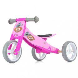 Gyerek multifunkciós fa futóbicikli Milly Mally Jake pink Cowgirl