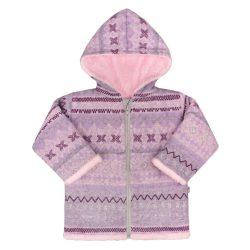 Téli kabátka kapucnival Baby Service Etnik tél  rózsaszín