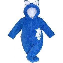 Téli baba kezeslábas New Baby Fülecske kék