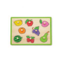 Gyermek fa puzzle Viga Gyümölcs
