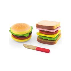 Gyermek fajáték Viga Hamburger és Szendvics