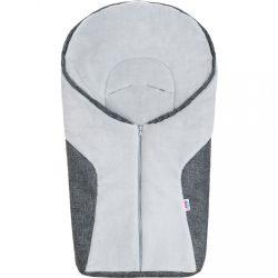 Luxus téli lábzsák New Baby Car grey