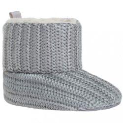 Gyermek téli cipő Bobo Baby 12-18h szürke kötött