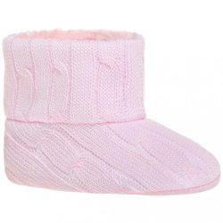 Gyermek téli cipő Bobo Baby 6-12h rózsaszín kötött