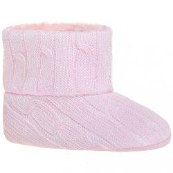 Gyermek téli cipő Bobo Baby 12-18h rózsaszín kötött