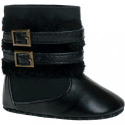 Gyermek téli cipő Bobo Baby 6-12h fekete csattal