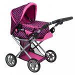Multifunkciós kocsi babáknak PlayTo Elsa rózsaszín-fekete