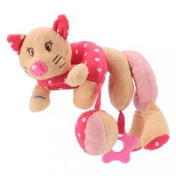 Spirálos játék kiságyra Baby Mix cica rózsaszín