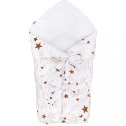 Klasszikus megkötős pólya New Baby csillagok barna