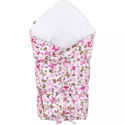 Klasszikus megkötős pólya New Baby pillangó rózsaszín