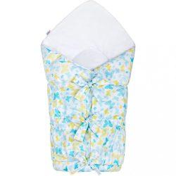 Klasszikus megkötős pólya New Baby pillangó kék