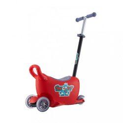 Gyermek jármű vezetőrúddal Snoop 3az1-ben Milly Mally red