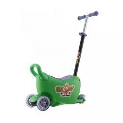Gyermek jármű vezetőrúddal Snoop 3az1-ben Milly Mally green