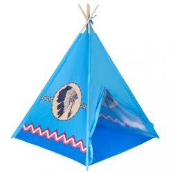 Gyermek indián sátor teepee PlayTo kék