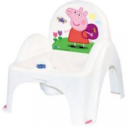 Zenélő gyerek bili becsukható deszkával Peppa Malacka white-pink