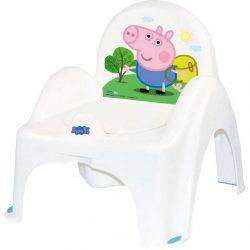 Zenélő gyerek bili becsukható deszkával Peppa Malacka white-blue
