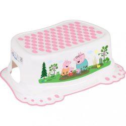 Gyerek csúszásgátlós fellépő fürdőszobába Peppa Malacka white-pink