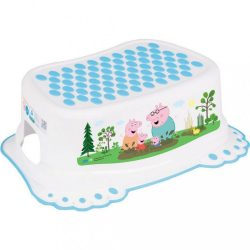 Gyerek csúszásgátlós fellépő fürdőszobába Peppa Malacka white-blue