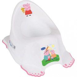 Zenélő gyerek csúszásmentes bili Peppa Malacka white-pink
