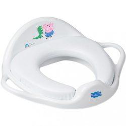 Gyermek WC ülőke puha Peppa Malacka white-blue