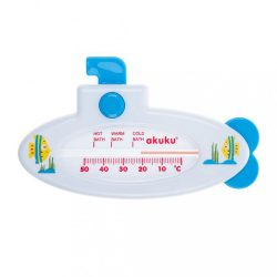 Gyermek vízhőmérő kádba Akuku Hajó white