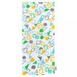 Pamut pelenka nyomtatott mintával New Baby fehér geometriai alakzatok