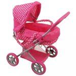 Mély babakocsi babáknak Baby Mix pöttyös rózsaszín