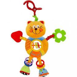 Gyerek plüss játék csörgővel Baby Mix cica