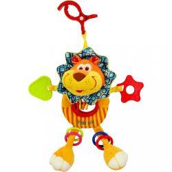Gyerek plüss játék csörgővel Baby Mix oroszlán