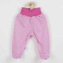 Baba lábfejes nadrág New Baby Classic II rózsaszín csíkokkal