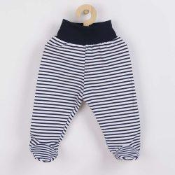 Baba lábfejes nadrág New Baby Classic II kék csíkokkal