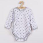Baba body teljes hosszában patentos New Baby Classic II szürke csillagokkal
