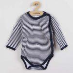 Baba body teljes hosszában patentos New Baby Classic II kék csíkokkal