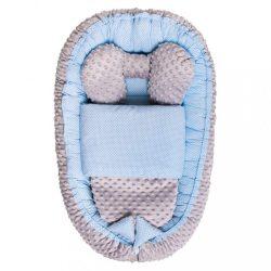 Babafészek paplannal kisbabák számára Minky Sweet Baby Belisima kék