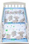 2 részes ágyneműhuzat New Baby 100/135 cm kék elefántos