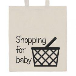 Pamut bevásárló táska természetes, nyomtatással New Baby