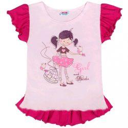Baba nyári tunika New Baby Girl rózsaszín