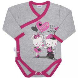 Baba body oldalsó bekapcsolással New Baby Love Mouse