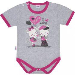 Baba body rövid ujjú New Baby Love Mouse