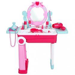 Gyermek fésülködő asztal kofferban 2az1-ben Bayo