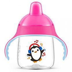 Bájos itatópohár Avent Premium Pingu 260 ml rózsaszín