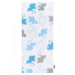 Pamut pelenka nyomtatott mintával New Baby fehér elefántos
