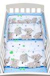 3-részes ágyneműhuzat New Baby 100/135 cm kék elefántos