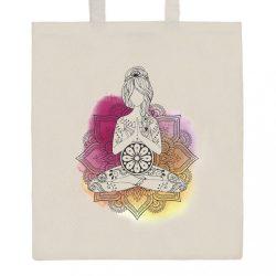 Pamut bevásárló táska természetes, nyomtatással New Baby Mandala