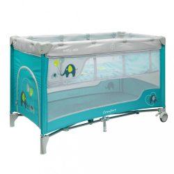 Gyermek utazóágy Baby Mix Elefántok Blue
