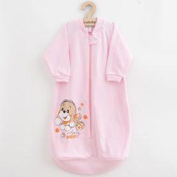 Baba hálózsák New Baby kutyus rózsaszín