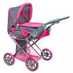 Multifunkciós kocsi babáknak PlayTo Elsa szürke-rózsaszín