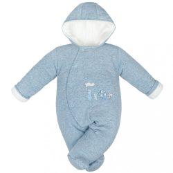 Téli baba kezeslábas Baby Service Animals kék