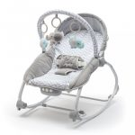 Pihenőszék babák számára 2in1 Baby Mix dino grey blue