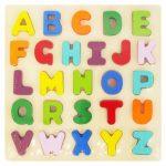 Gyermek fa fogantyús puzzle Baby Mix Betűk